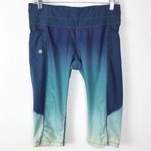 Athleta Capri Leggings Zip Pockets Ombre M